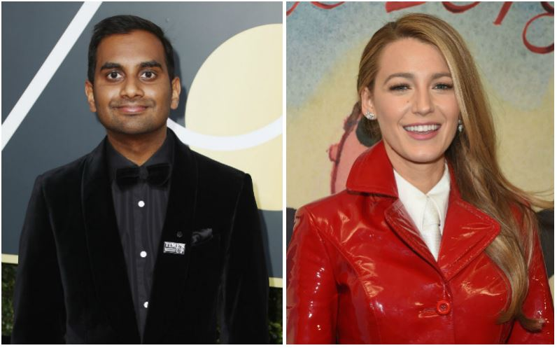 Aziz Ansari and Blake Lively composite image