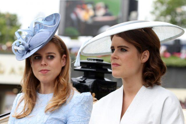 Princess Beatrice and Princess Eugenie attend the Royal Ascot.