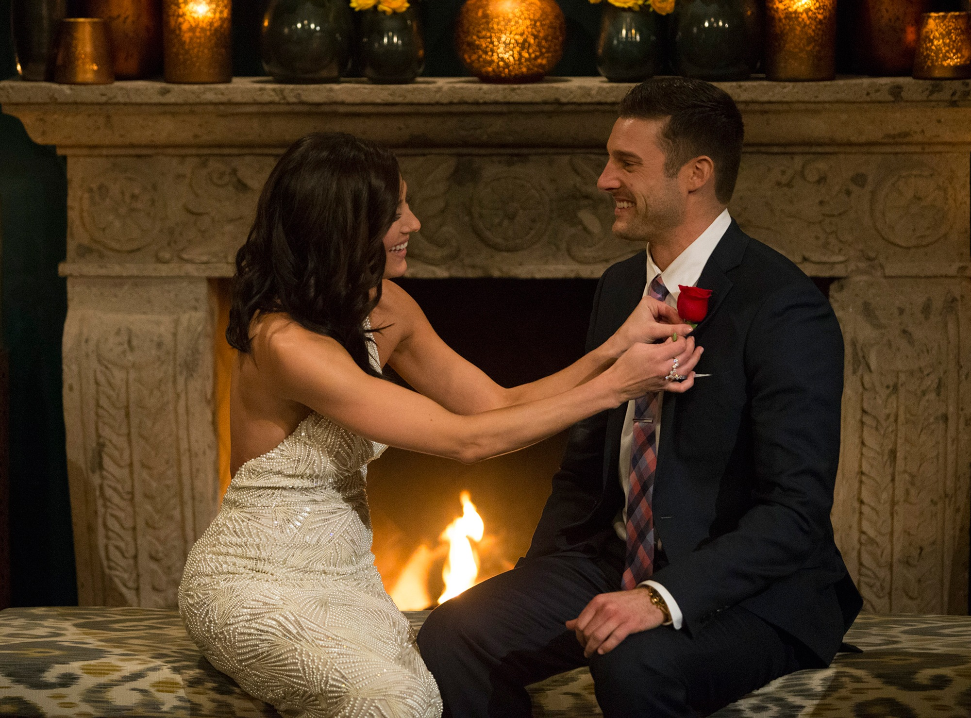 Becca Kufrin and Garrett Yrigoyen on The Bachelorette