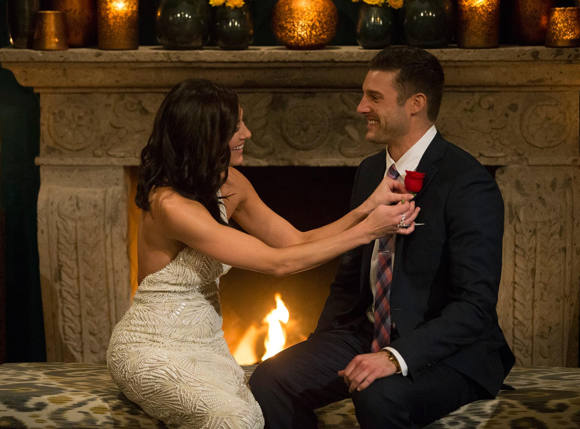 Becca Kufrin and Garrett Yrigoyen on The Bachelorette