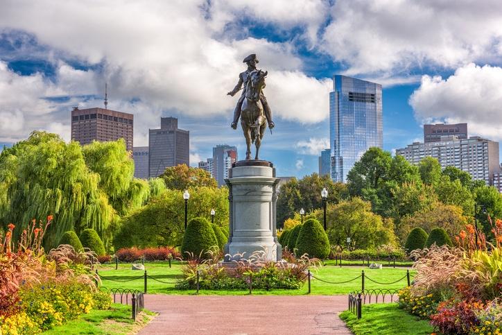 George Washington Monument at Public Garden in Boston, Massachusetts