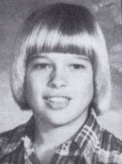 Brad Pitt as a young boy