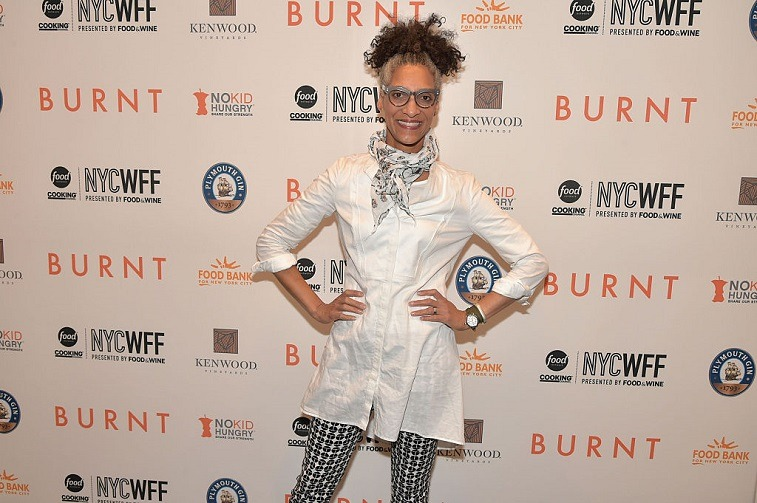 Chef Carla Hall attends the Private Screening Of BURNT, Q&A Panel And Reception With Bradley Cooper And Sienna Miller during Food Network & Cooking Channel New York City Wine & Food Festival presented By FOOD & WINE at MOMA on October 18, 2015 in New York City.