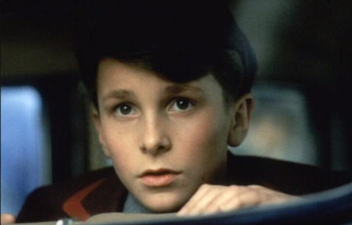 Christian Bale in one of his first movie roles