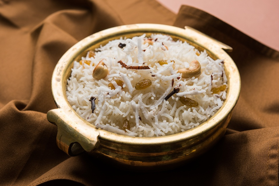 Coconut over rice