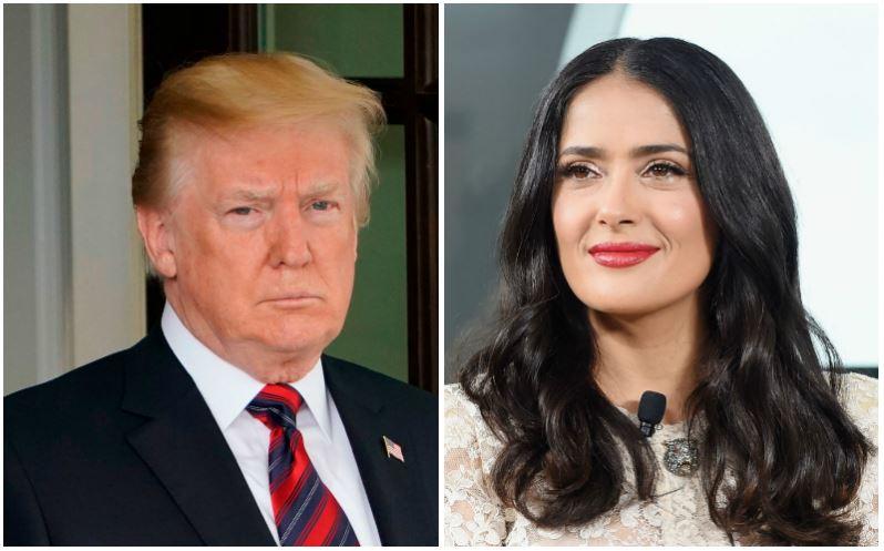 Donald Trump and Salma Hayek composite image