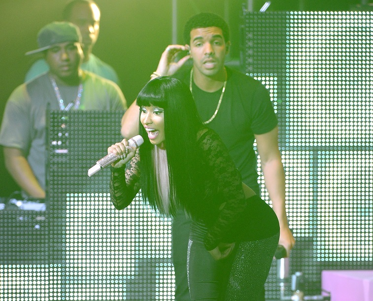 Nicki Minaj and Drake perform at Pepsi Presents Nicki Minaj's Pink Friday Tour at Roseland on August 14, 2012 in New York City.