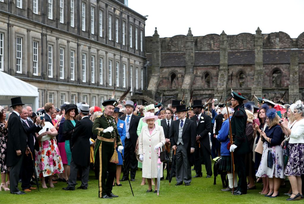 annual garden party at the Palace of Holyroodhouse