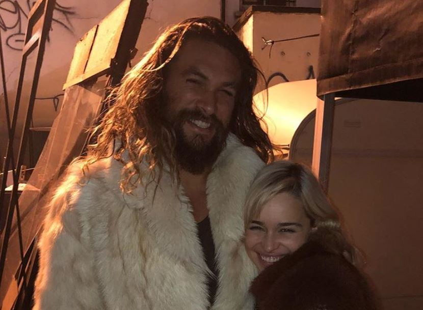 Jason Momoa and Emilia Clarke