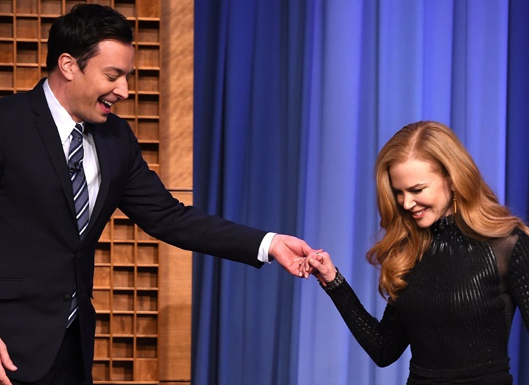 "Nicole Kidman visits ""The Tonight Show Starring Jimmy Fallon"" at Rockefeller Center on January 6, 2015 in New York City."
