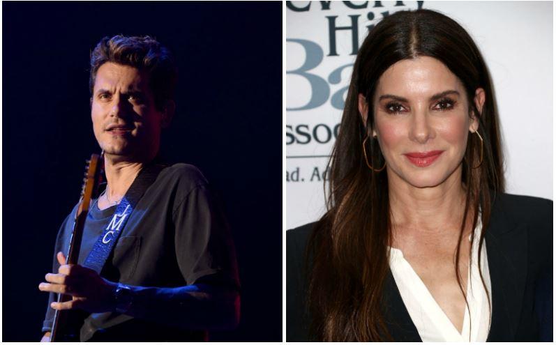 John Mayer and Sandra Bullock composite image