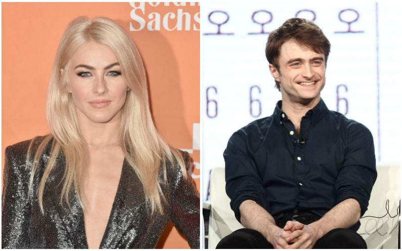 Julianne Hough and Daniel Radcliffe composite image