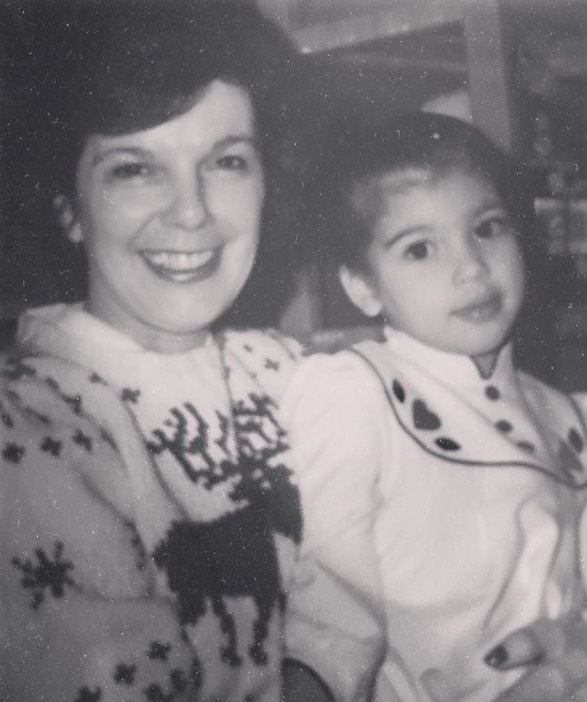 Kim Kardashian West pictured with her grandmother