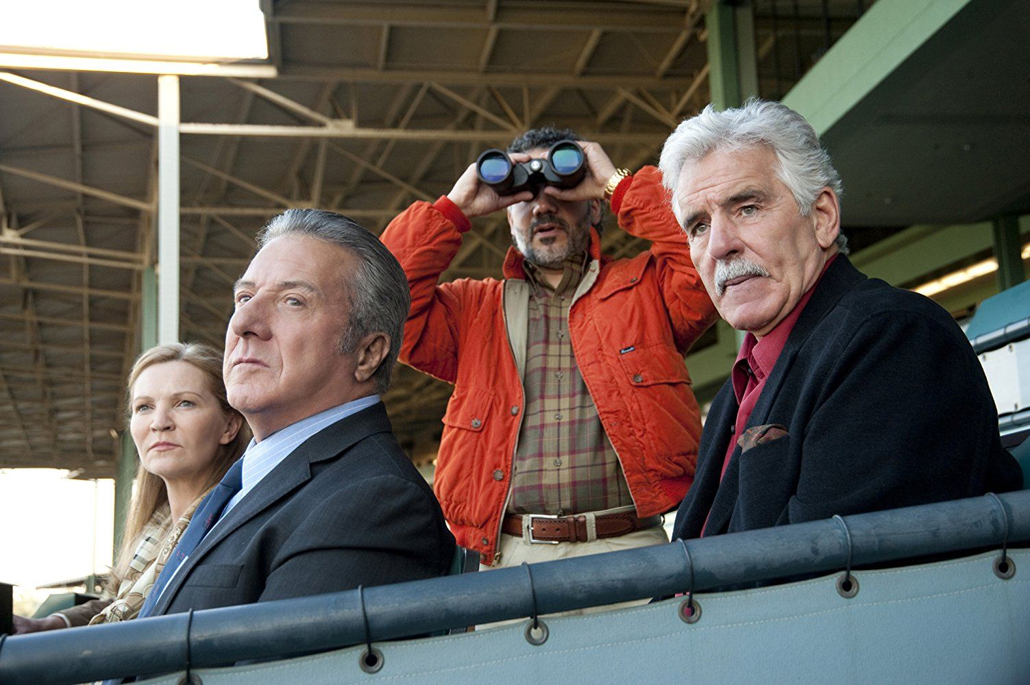 Dustin Hoffman, Joan Allen, Dennis Farina, and John Ortiz in Luck