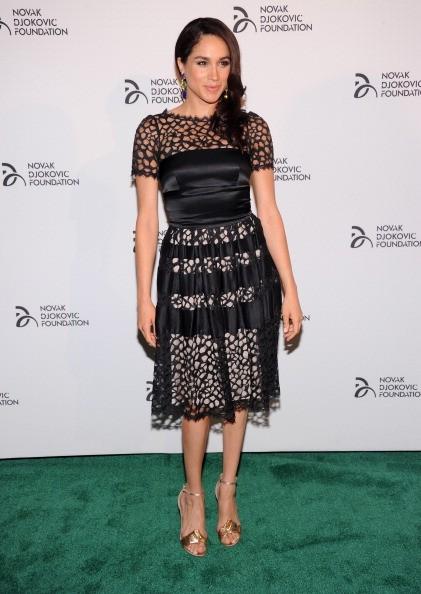Meghan Markle in a black dress
