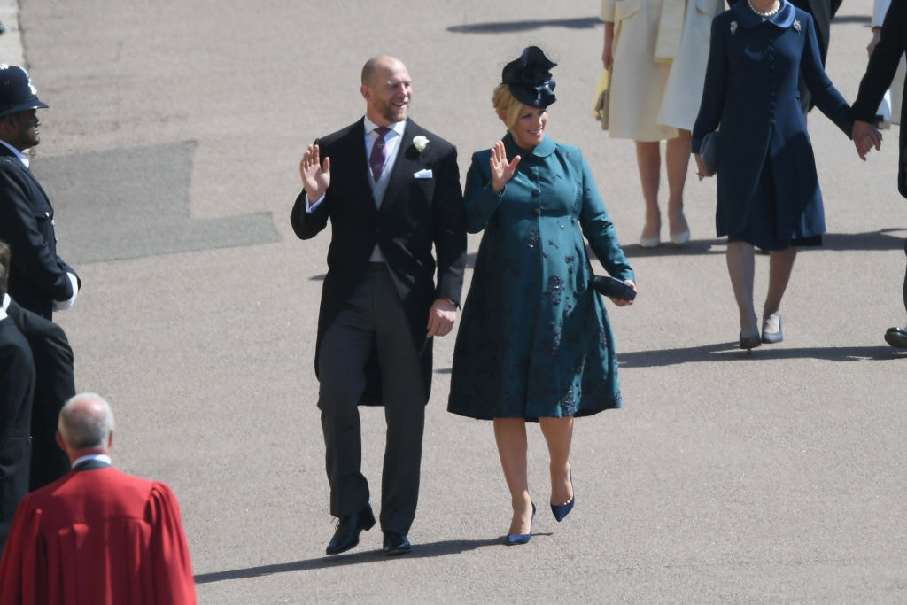 Mike and Zara Tindall attend the wedding of Prince Harry to Meghan Markle.