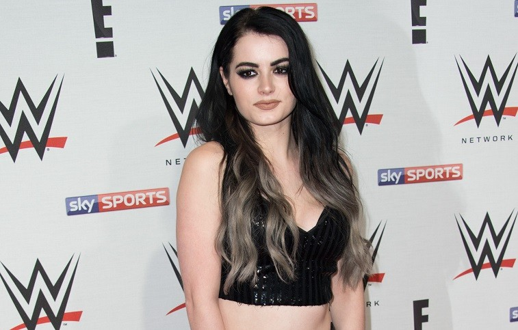 Paige arrives for WWE RAW at 02 Brooklyn Bowl on April 18, 2016 in London, England.