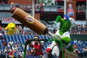 This Phillies Fan Getting Hit by a Flying Hot Dog Isn't the First Bizarre Baseball Game Injury