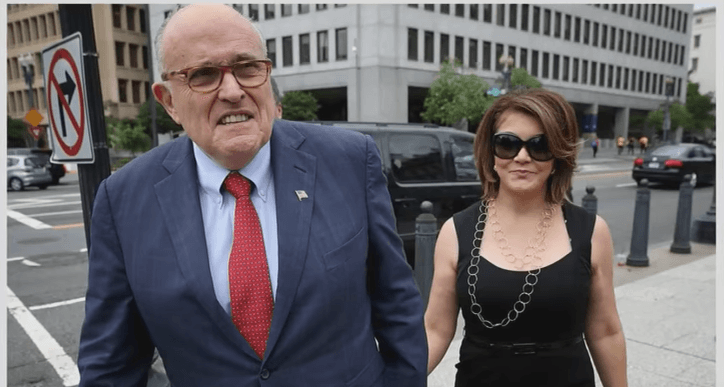 Rudy Giuliani and Jennifer LeBlanc