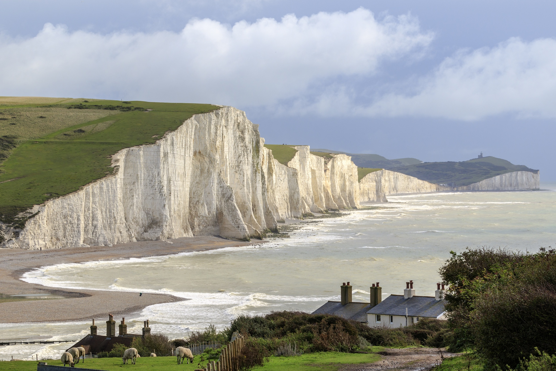 Seven Sisters Cliffs in the South Downs, Sussex