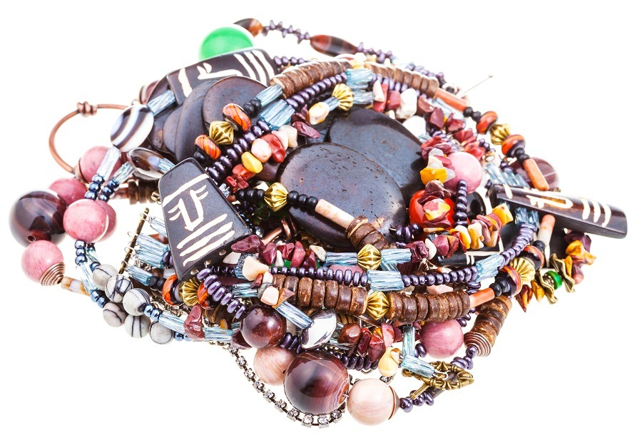 pile of matted necklaces