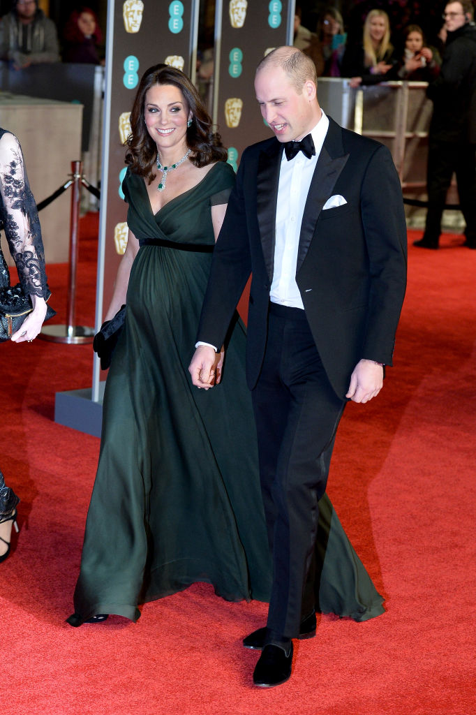 Prince William and Kate Middleton attend the 2018 BAFTAs.