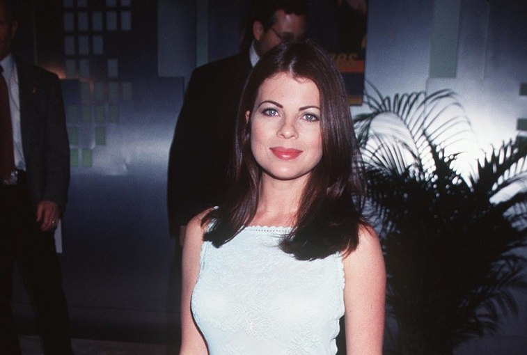 Yasmine Bleeth ('Nash Bridges') at the NATPE (National Asson. of Television Program Executives) Convention.