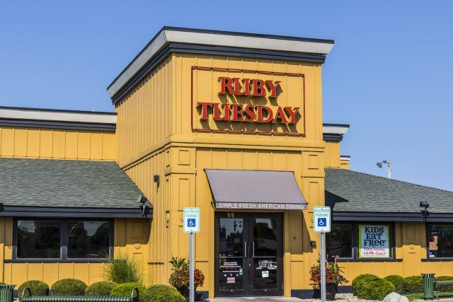A location of Ruby Tuesday