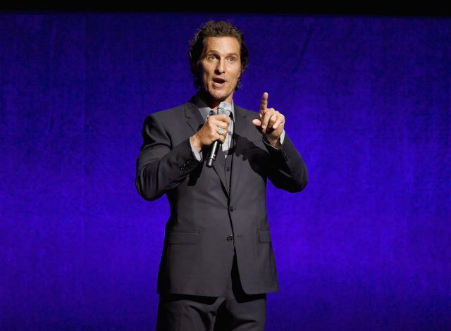 Actor Matthew McConaughey speaks onstage during the CinemaCon 2018 Gala