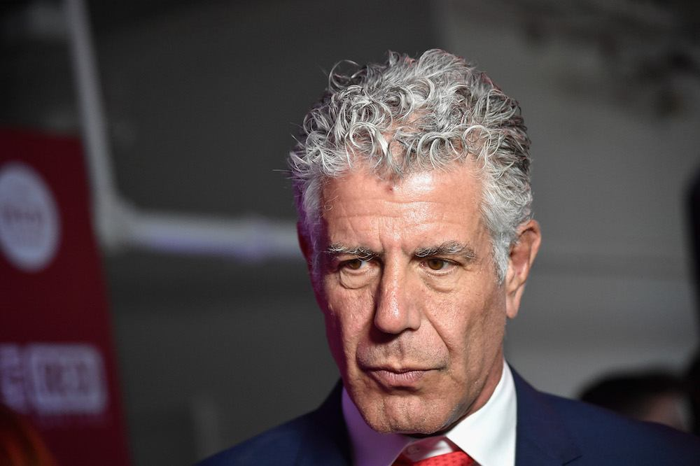 Anthony Bourdain attends The (RED) Supper hosted by Mario Batali