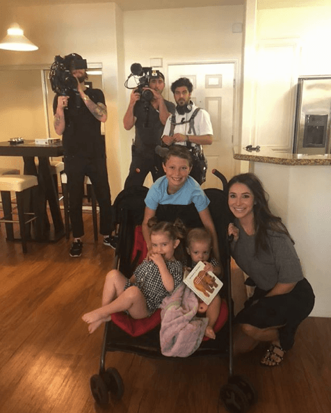 "Bristol Palin on Instagram with her children and the crew of ""Teen Mom OG"""