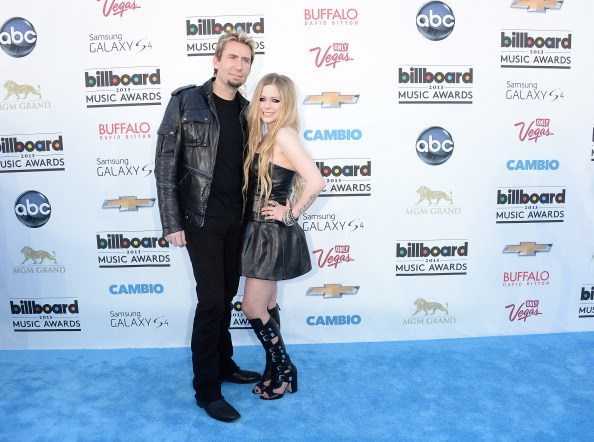 Chad Kroeger and Avril Lavigne arrive at the 2013 Billboard Music Awards|