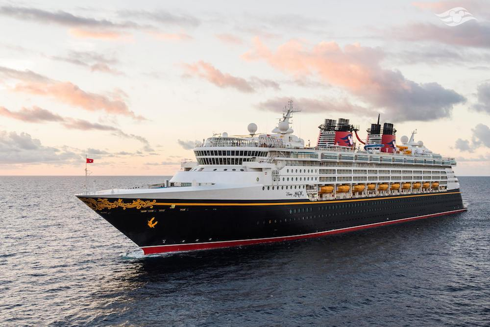 Disney Magic cruise ship, one of the Disney cruise ships owned by the Disney Cruise Line
