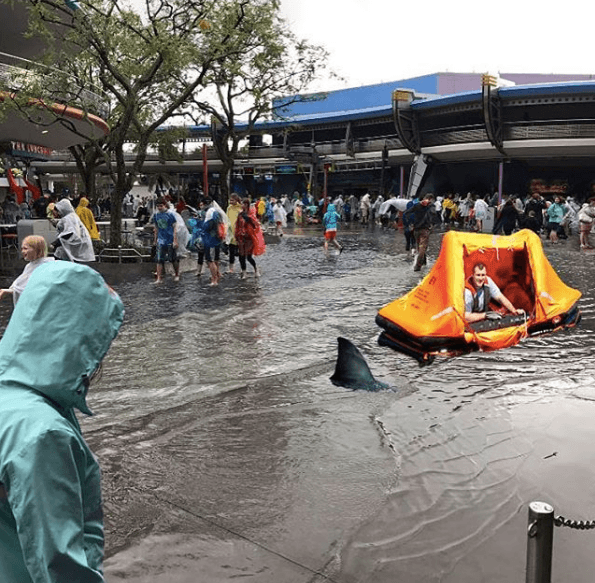 Flooding in Magic Kingdom at Disney World in 2017