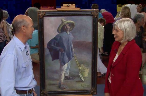 "Diego Rivera painting ""El Albanil"""