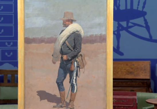 Frederic Remington painting Antiques Roadshow screen cap PBS