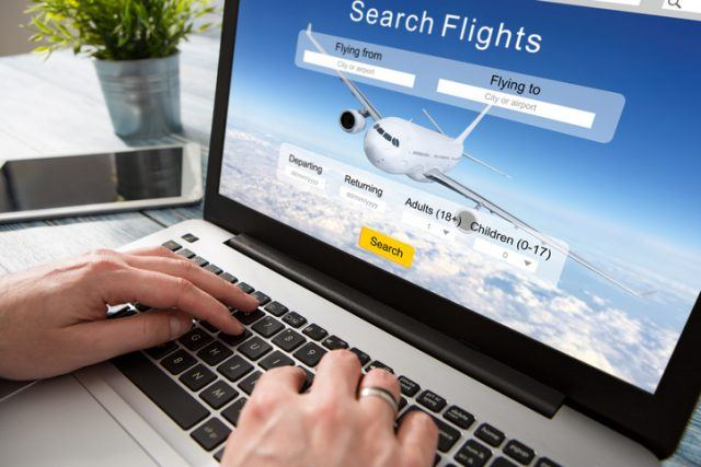 booking flight travel plane