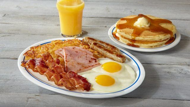 Breakfast sampler at IHOP