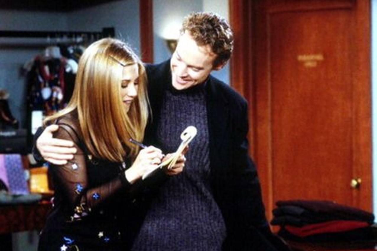 "Jennifer Aniston and Tate Donovan on ""Friends"""