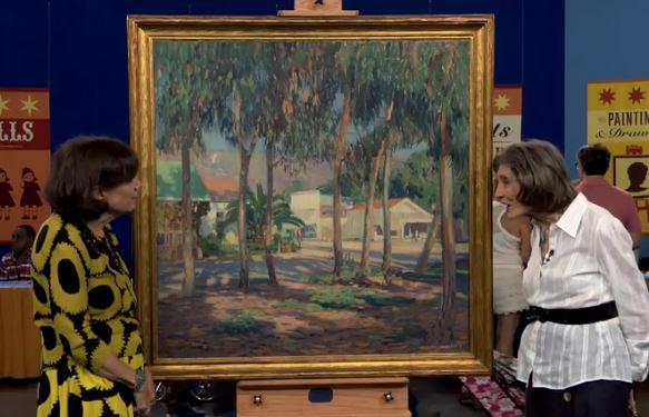 Joseph Kleitsch painting Antiques Roadshow screen cap PBS