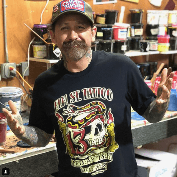 Oliver Peck, tattoo artist at Elm Street Tattoo