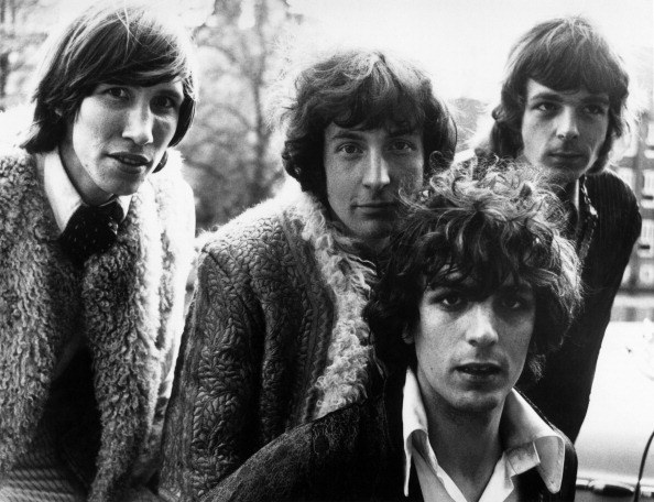Members of the psychedelic pop group Pink Floyd. Roger Waters, Nick Mason, Syd Barrett and Rick Wright