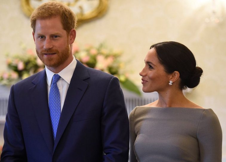 Prince Harry and Meghan Markle arrive to meet Ireland's President