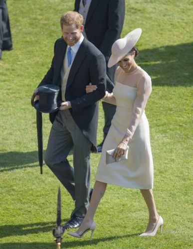 Prince Harry and Meghan Markle at the celebration for Prince Charles's 70th birthday