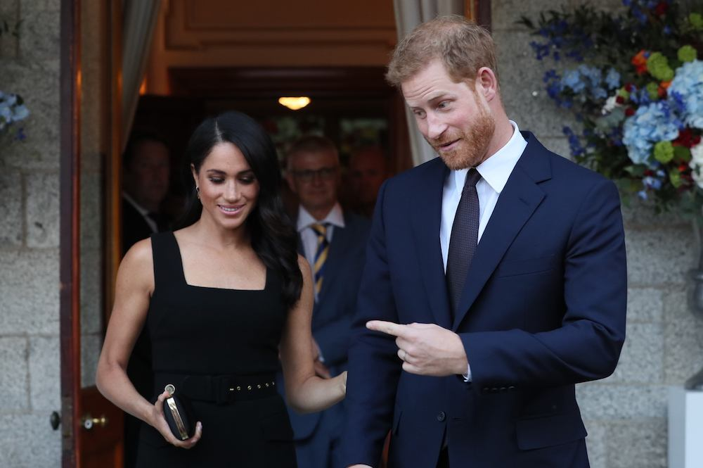 Prince Harry and wife Meghan, the Duke and Duchess of Sussex attend a Summer Party at the British Ambassador's residence at Glencairn House in Dublin