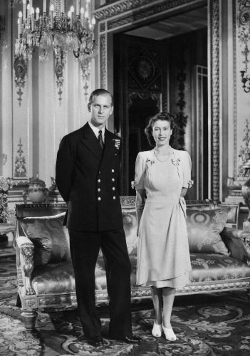 Princess Elizabeth and Philip Mountbatten, later Queen Elizabeth II and Prince Philip