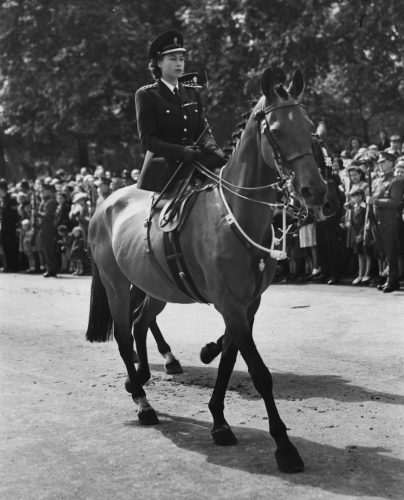Princess Elizabeth at the 1947 Trooping the Color ceremony