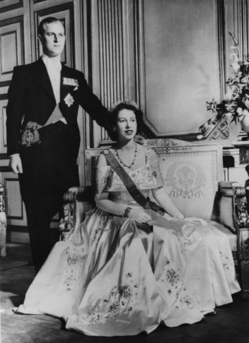 Queen Elizabeth II and Prince Philip, the Duke of Edinburgh, circa 1952