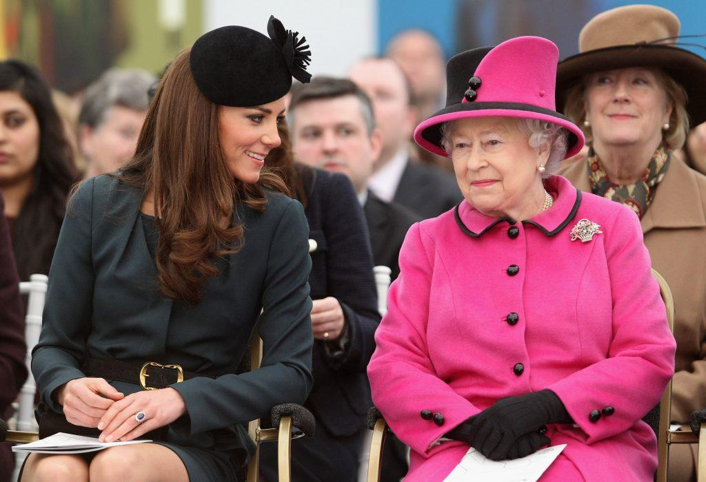 Queen Elizabeth II and Kate Middleton