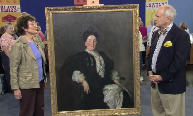 Robert Henri painting Antiques Roadshow screen cap PBS